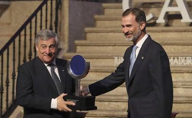 Tajani pide en Yuste combatir los «egoísmos nacionalistas»
