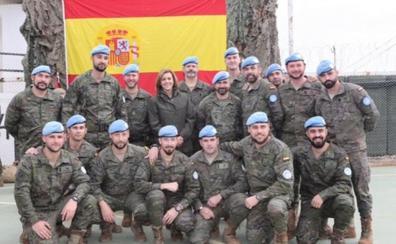 La primera rotación de militares extremeños en Líbano regresa a Badajoz el domingo