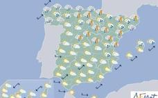 Intervalosos nubosos con probables chubascos para este domingo