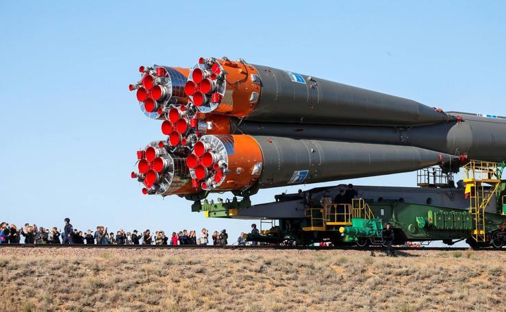 Preparativos para el lanzamiento de la Soyuz MS-09