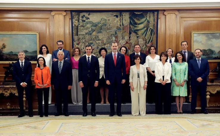 El juramento de los ministros, en imágenes