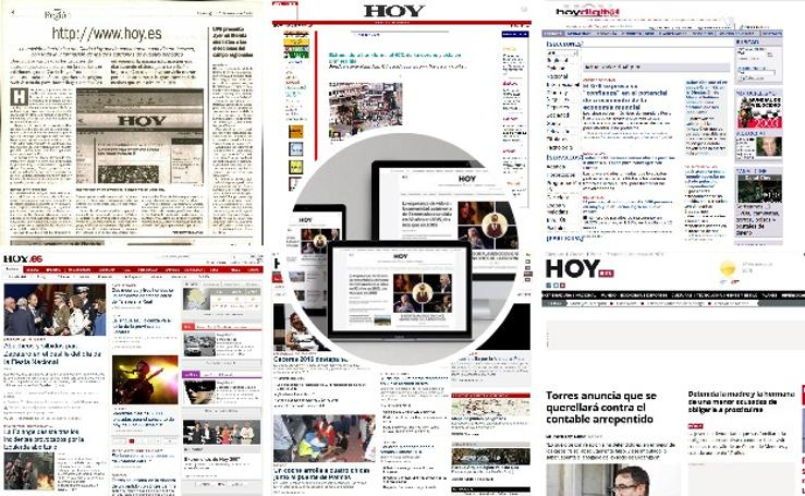 Evolución de HOY.es desde 1998 hasta 2018