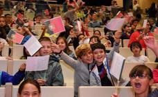 Los escolares celebran el día de Portugal