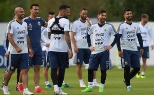 Messi desata la locura en el entrenamiento de Argentina