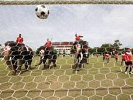 Partido de fútbol de elefantes para promover el Mundial de la FIFA 2018