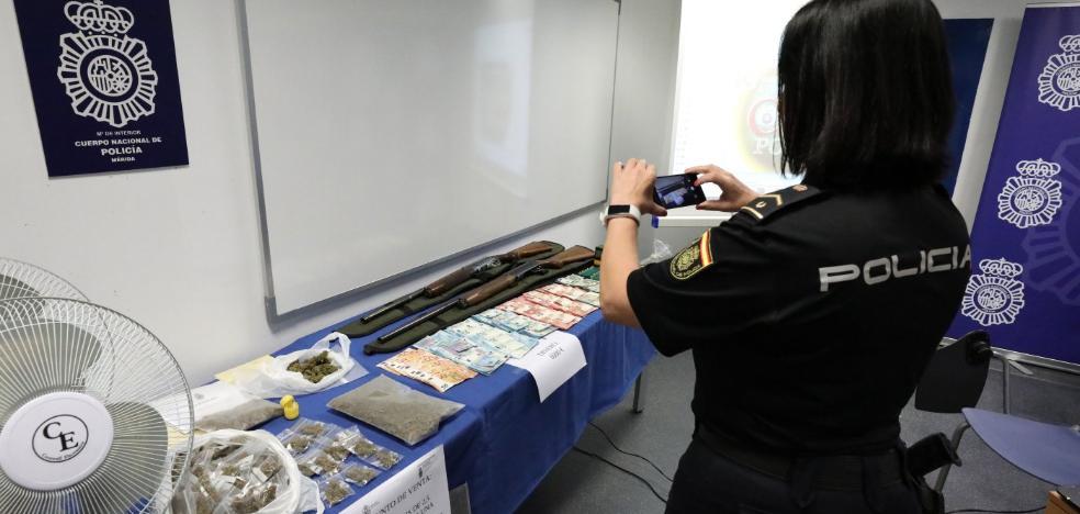 La Policía Nacional desarticula un punto de producción industrial de marihuana en Mérida