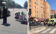 Una motorista resulta herida en la colisión con un coche en Badajoz