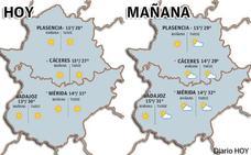 Las temperaturas suben este miércoles y podrán alcanzar los 31 grados en Extremadura