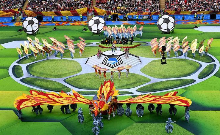 La ceremonia de inauguración del Mundial de Rusia 2018