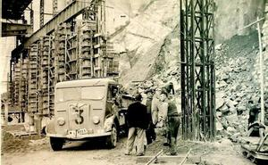 Así se construyó la presa de Cijara en 1956