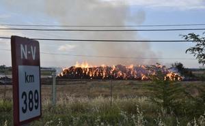 Incendio en una fábrica de forrajes de Villafranco
