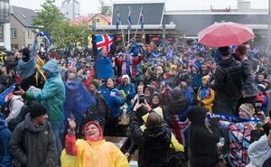 Locura total en Islandia con su selección