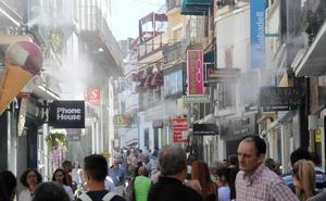 El 'microclima' de la calle Santa Eulalia de Mérida ya está activo