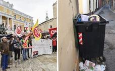 Los trabajadores de limpieza de FCC de Badajoz comienzan una huelga indefinida