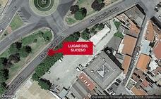 Un motorista resulta herido al sufrir una caída en Badajoz