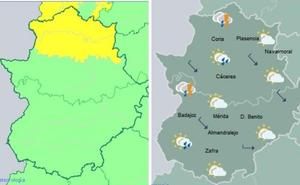 Alerta amarilla por tormentas en el norte de Cáceres, Tajo y Alagón