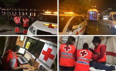 El dispositivo sanitario de Cruz Roja para la Feria de San Juan de Badajoz está formado por 59 voluntarios