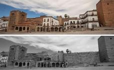 Metafísica y un pegote en la Ciudad Monumental de Cáceres