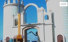 Los últimos preparativos para la Feria de San Juan en Badajoz