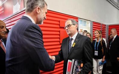 Felipe VI, Sánchez y Torra presiden juntos los Juegos Mediterráneos