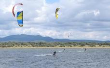 Kitesurf en la dehesa