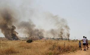 Arden 40 hectáreas entre la carretera de Olivenza y las Vaguadas en Badajoz