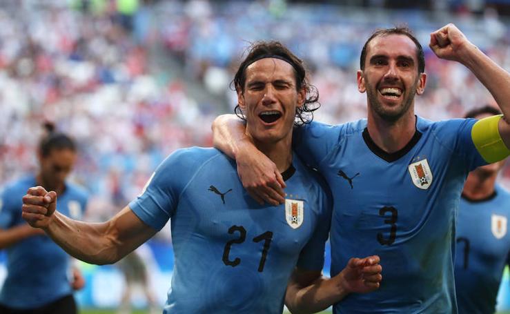 Rusia-Uruguay, en imágenes