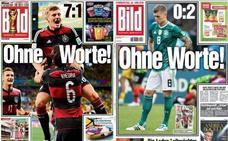 'Bild' recupera la portada de la goleada a Brasil para la eliminación de Alemania