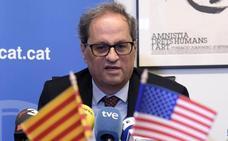 Torra abandona un acto en Washington molesto por el discurso del embajador español