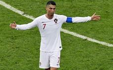 Cristiano Ronaldo, impotente ante Uruguay