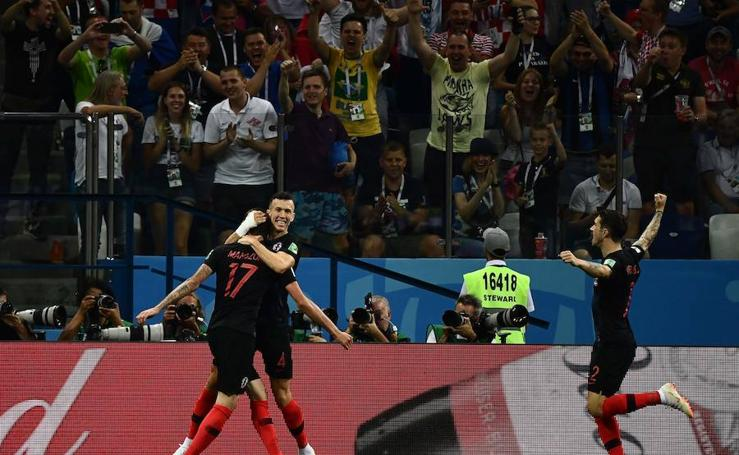Croacia-Dinamarca, en imágenes