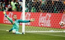 De Gea, el portero con menos paradas en un Mundial desde 1966