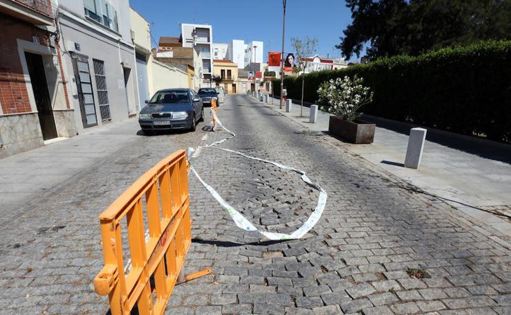 Obras de conducción de gas en el entorno del Teatro Romano de Mérida