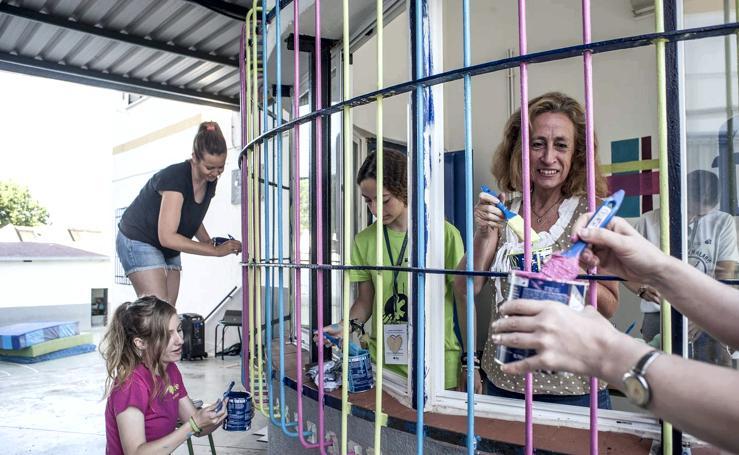 Campo de trabajo y entretenimiento en el colegio Nuestra Señora de la Asunción