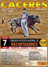 Concurso de recortadores en la plaza de toros de Cáceres