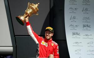 Martillazo de Vettel en la mesa de Hamilton