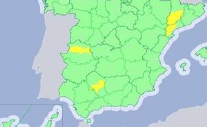 Vuelve el aviso amarillo por calor en Extremadura para este martes