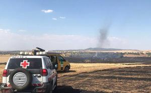 El incendio en Granja de Torrehermosa se debió a la chispa de una cosechadora