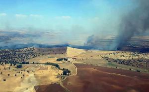 Declarado el nivel 1 de peligrosidad por un incendio en Granja de Torrehermosa