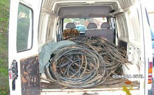 Detenidas 26 personas por robar 10 toneladas de cobre en varias provincias, entre ellas Badajoz