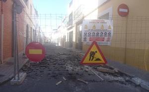 La calle Alta de VIllanueva, cortada al tráfico