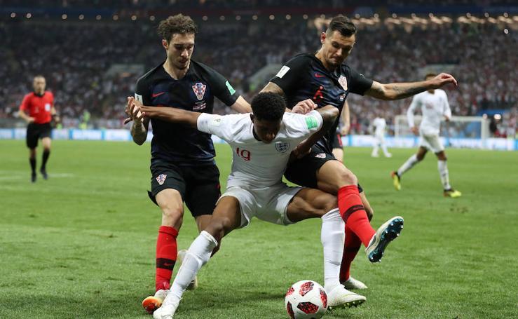Croacia-Inglaterra, en imágenes