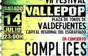 El grupo Cómplices encabeza este año el VII Vallepop, que se celebrará el sábado y es gratis
