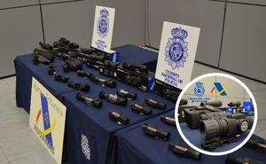 Dos detenidos en Badajoz por contrabando de visores para armas de fuego