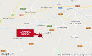Cuatro jóvenes resultan heridos en un accidente de tráfico cerca de Mengabril