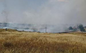 Declaran el nivel 1 de peligrosidad por un incendio en Cáceres por la cercanía del fuego a una vía férrea