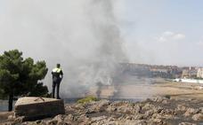 Estabilizados los tres incendios originados en el casco urbano de Cáceres