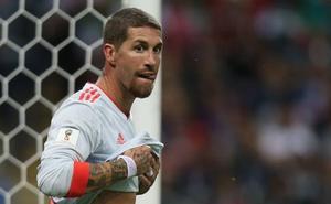 Sergio Ramos se tuesta al sol