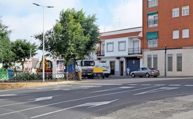 Las obras obligan a limitar el tráfico en la calle Alcollarín de Don Benito