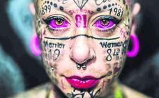 La mujer más tatuada de Europa es española: «Soy adicta a la tinta»
